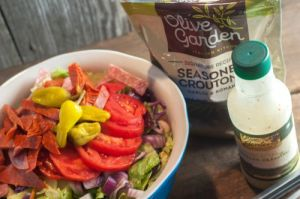 Olive Garden Salad at home-seriously so easy!