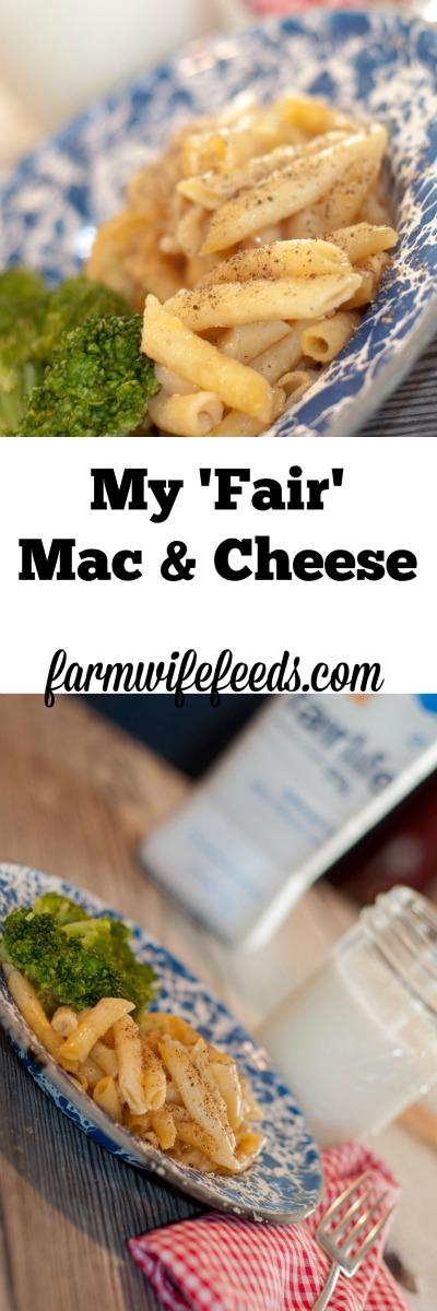 My 'Fair' Mac & Cheese-protein packed & cheesy!