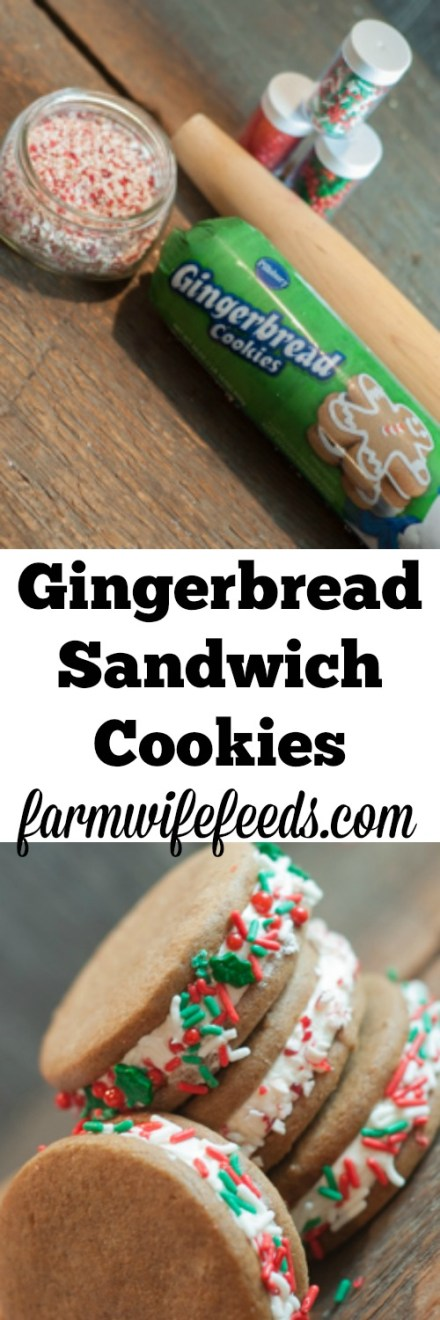 Super simple, super yummy Gingerbread Sandwich Cookies