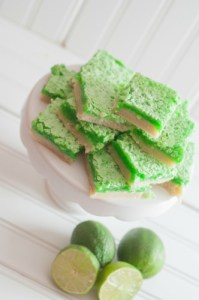 Fresh Squeezed Lime Bars, a great recipe for a sweet. tart and refreshing dessert or snack.