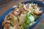 This Chicken Caesar Salad is a perfect meal with homemade croutons and grilled chicken!