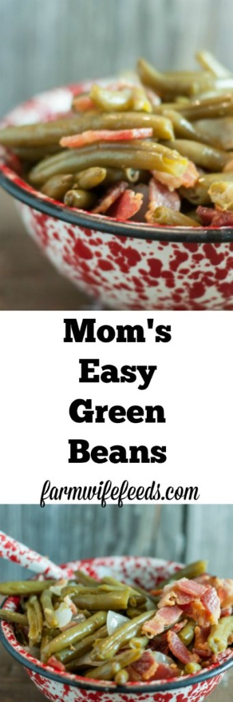 My Mom's Easy Green Beans are super simple to make, don't take a lot of time but taste like you spent all summer growing them and canning them yourself!