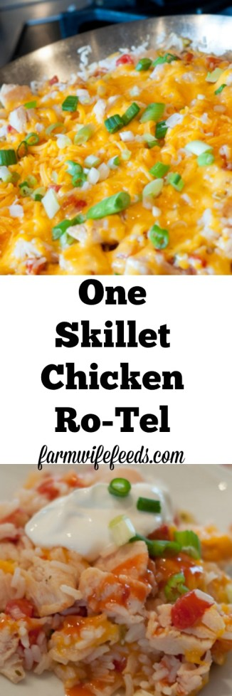 This Chicken Ro-Tel is an quick easy one skillet recipe that everyone will love!