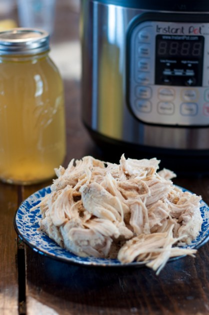 Freezer Meal Instant Pot Shredded Chicken is a quick way to have shredded chicken on hand all week long for quick snacks and meals.