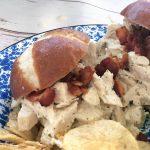 Crock Pot Dill Shredded Chicken Sandwiches