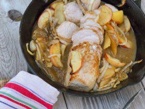 Cider Glazed Pork Tenderloin from Farmwife Feeds is an easy fall recipe using apples and pork. #pork #apples #recipe