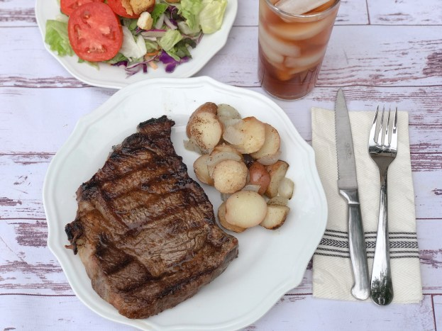 Steakhouse Grilled Steaks at Home from Farmwife Feeds, a great perfectly grilled steak right at home. #steak #grill