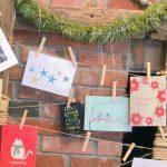 Easy DIY Christmas Card Display