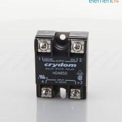 Solid State Relay Wiring Diagram Crydom 39 24 Volt Trolling Motor Plug Hd4850 Sensata Spst No 50 A