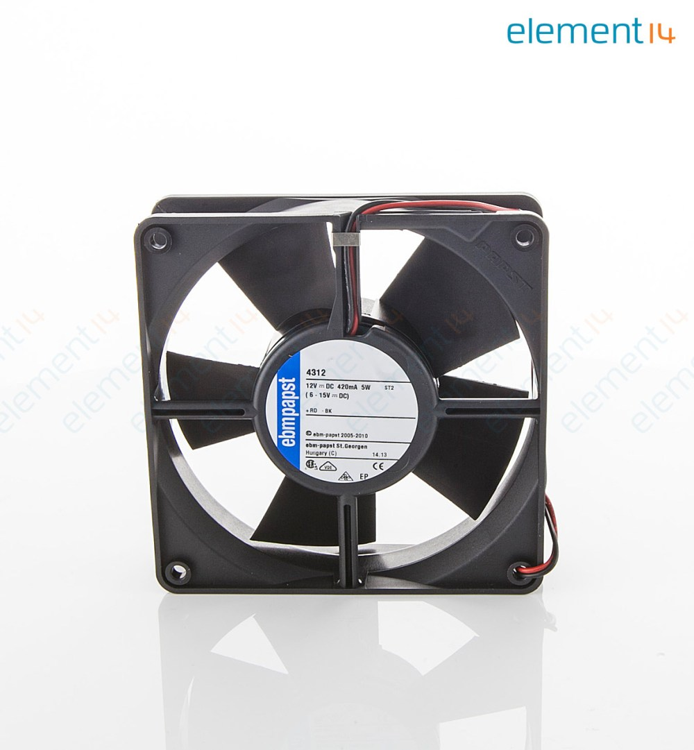 medium resolution of axial fan 4300 series ip54 ip68 12 v dc 119 mm 32 mm 45 dba 100 06 cu ft min
