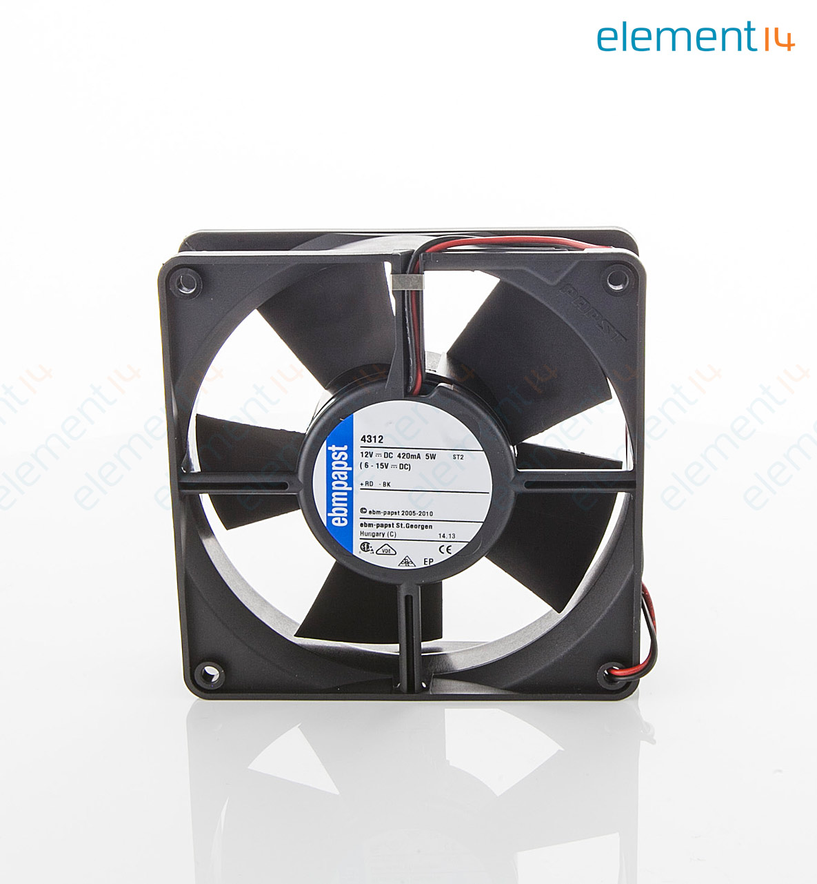 hight resolution of axial fan 4300 series ip54 ip68 12 v dc 119 mm 32 mm 45 dba 100 06 cu ft min