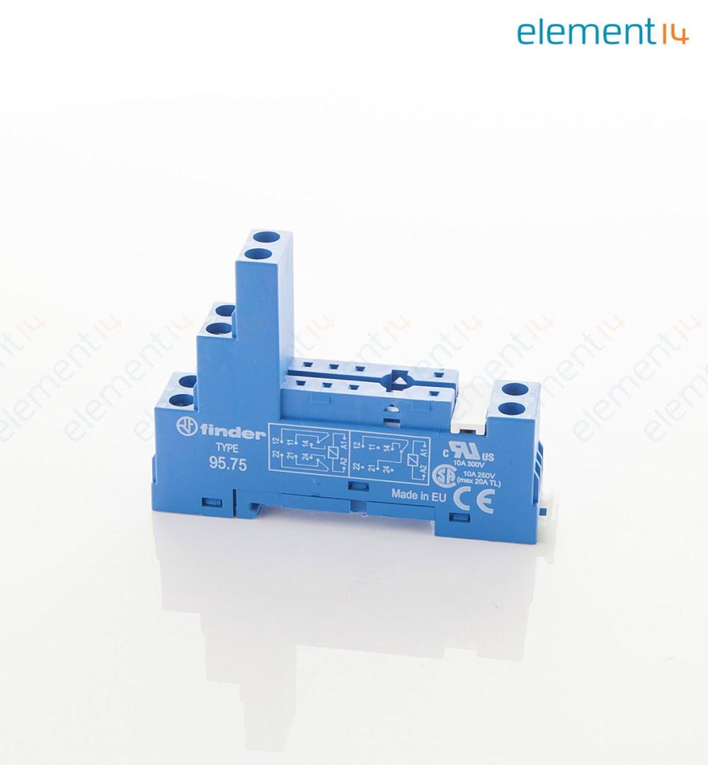 medium resolution of 95 75sma finder relay socket din rail panel 8 pin timer relay diagram