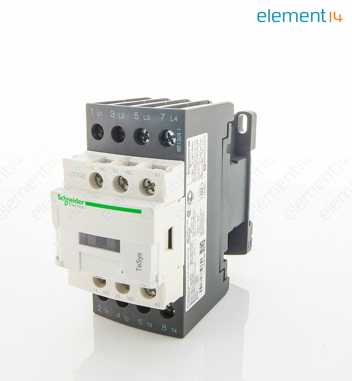 schneider electric contactor wiring diagram 70v volume control lc1dt40p7 4pno din rail