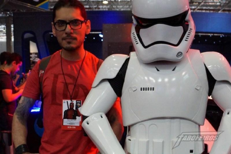 Farofeiros na CCXP 2015 - Rockerz e o novo Stormtrooper da First Order