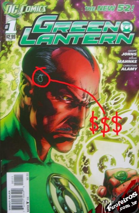 Edição com defeito de impressão de Green Lantern #1 - DC Comics faz recall de Green Lantern #1 - Lanterna Verde - Sinestro - Blog Farofeiros