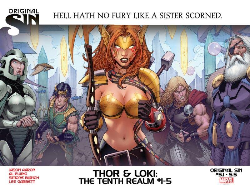 A irmã do Thor e do Loki é a Angela!