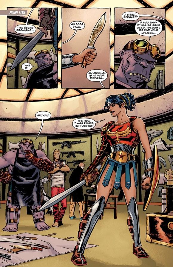 Preview de Wonder Woman #8. Mulher Maravilha armada