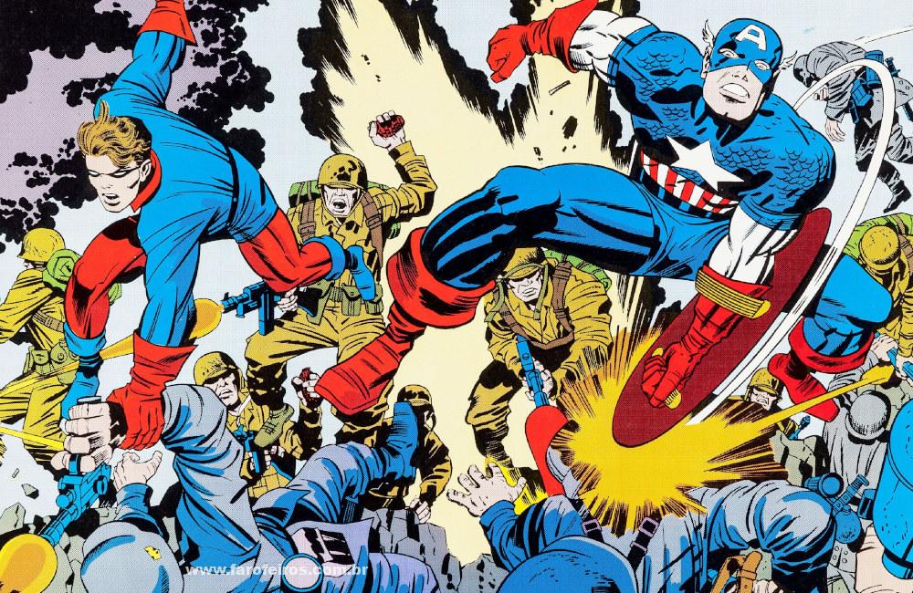 Jack Kirby é o cara - Capitão América e Bucky - Blog Farofeiros