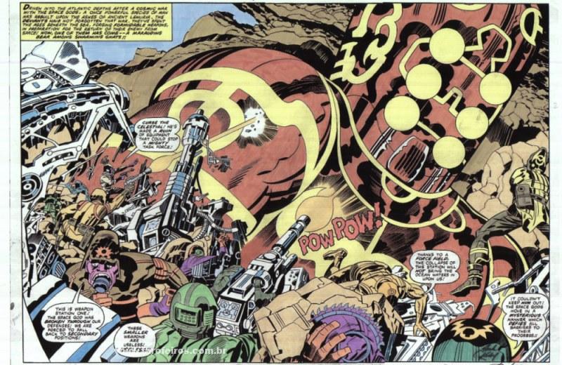 Jack Kirby é o cara - Eternals #10 - Ataque Celestial - Blog Farofeiros