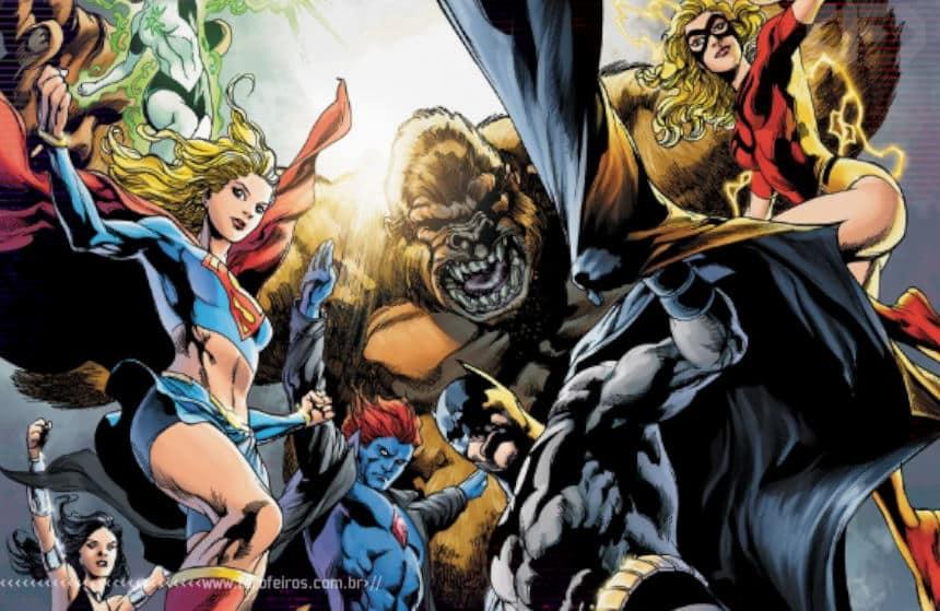 Macaco gigante enfrenta macaco gigante robô de seis braços! Justice League of America #60 - Blog Farofeiros