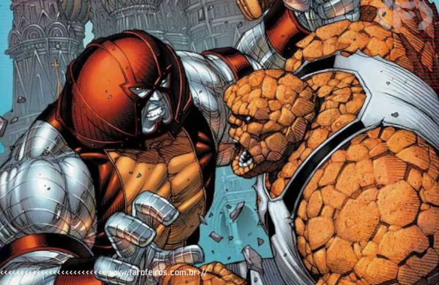 Vingadores Vs X-Men - Colossus vs Coisa - Blog Farofeiros