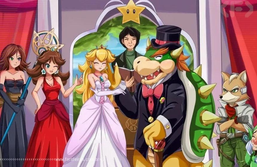 Casou com a Princesa - Bowser - Super Mario - Princesa Peach - Blog Farofeiros