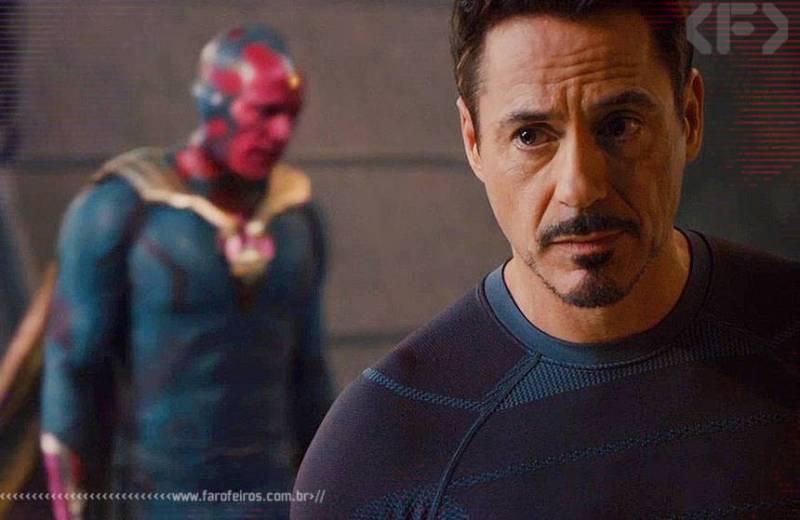 Vingadores - Era de Ultron - Marvel Studios - Blog Farofeiros - Visão - Tony Stark