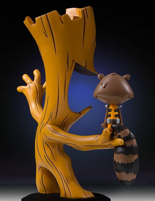 Rocket e Groot da Gentle Giant com traços de Skottie Young