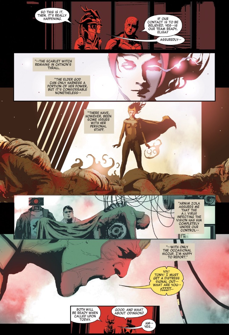 As motivações dos Vingadores da Hidra - Secret Empire #5 - Visão e Feiticeira Escarlate