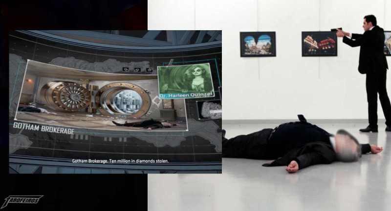 Jogo do Batman usa a imagem real de diplomata morto