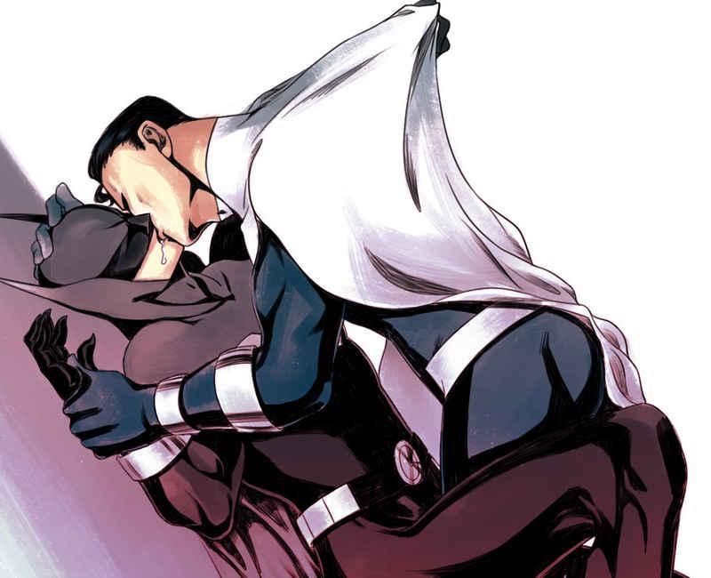 Batman beijando Superman - 30 question about kiss#4 by vitnaa