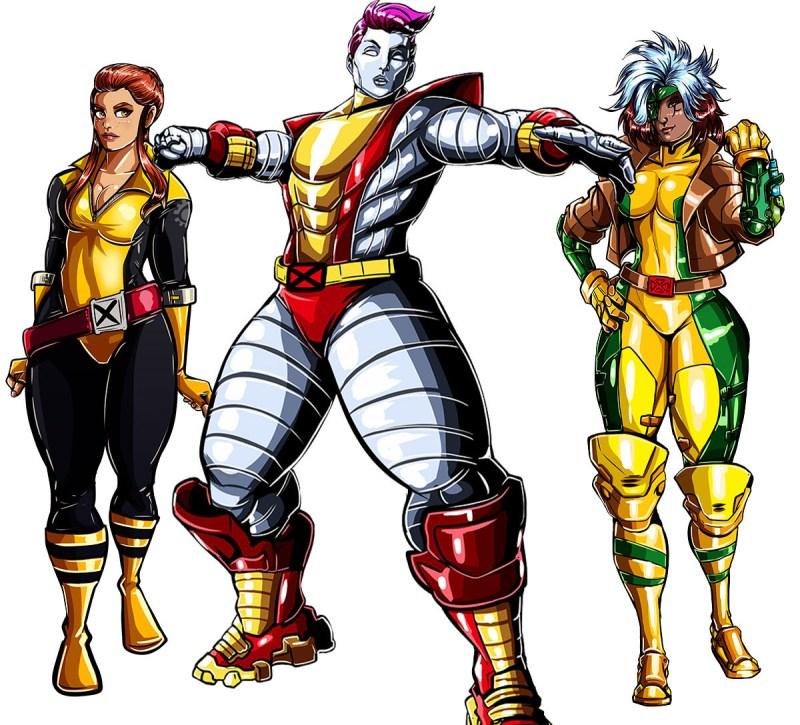 Overwatch com visuais dos X-Men - Brigitte, Zarya e Ana- Blog Farofeiros