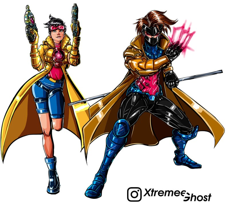 Overwatch com visuais dos X-Men - Tracer e Genji- Blog Farofeiros