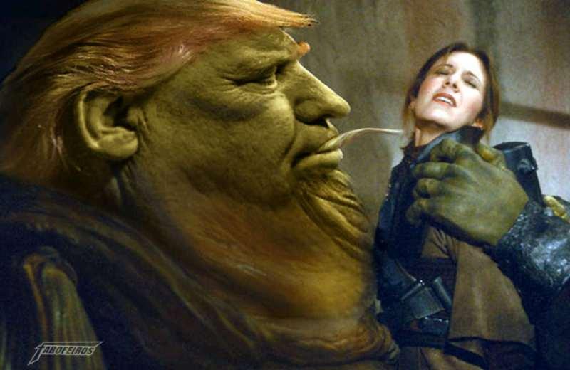 A culpa é do videogame e do cinema - Donald Trump - Jabba The Hutt e Han Solo - Trampolim de Trump