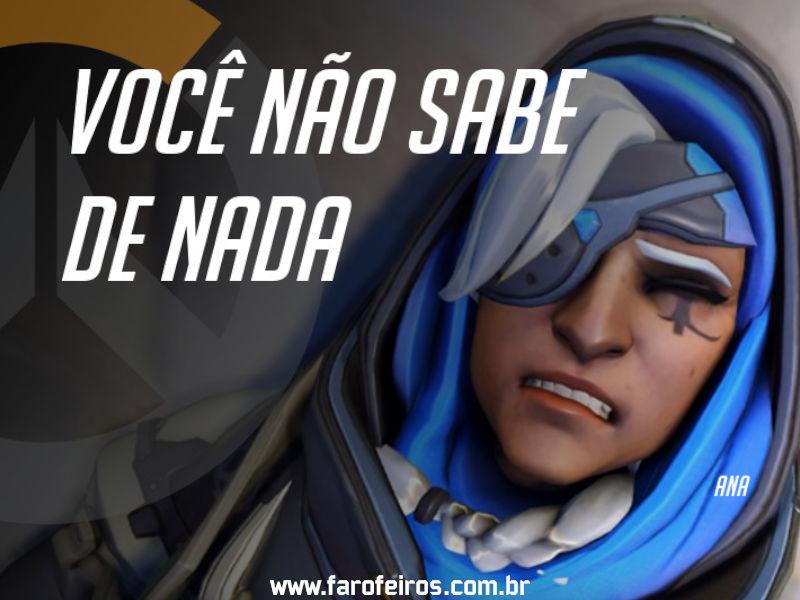 Ana - DES Motivação de Overwatch - Blog Farofeiros