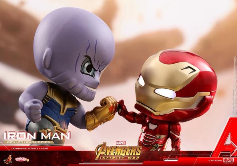 Cosbabys de Guerra Infinita - Thanos contra Homem de Ferro