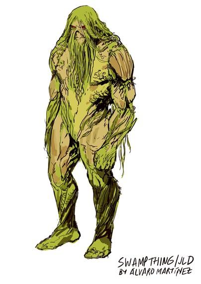 Monstro do Pântano com a cara do Alan Moore
