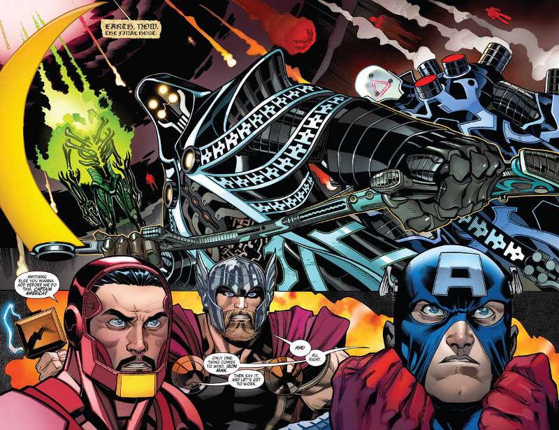 Gigantes espaciais são os inimigos de Vingadores e da Liga da Justiça - Avengers #1