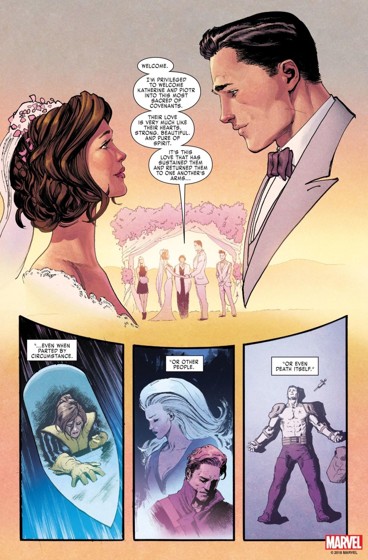 O casamento de Kitty Pride e Colossus - X-Men Gold #30