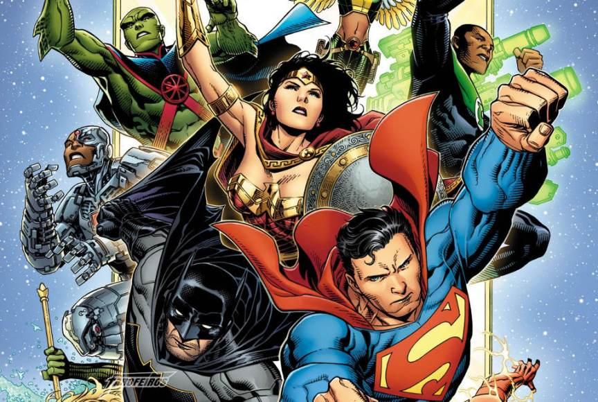 Review de Justice League 1 - Liga da Justiça - Arte de Jim Cheung