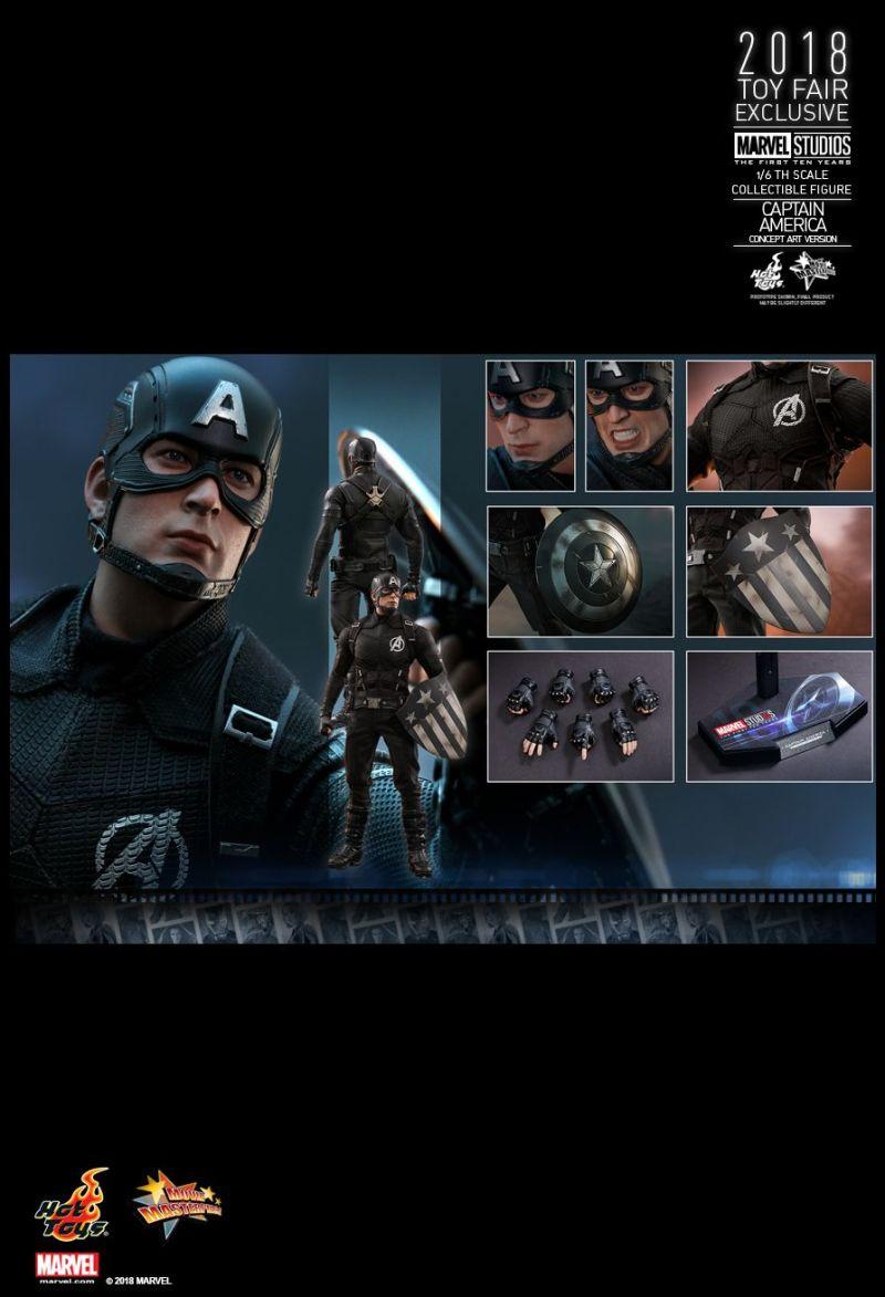 Capitão América - Captain America Concept Art Version - Hot Toys - Os melhores colecionáveis exclusivos da SDCC 2018