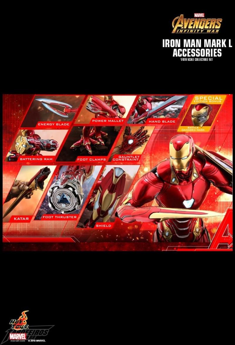 O melhor de colecionáveis na SDCC 2018 - Acessório do Homem de Ferro de Guerra Infinita da Hot Toys - Infinity War Iron Man