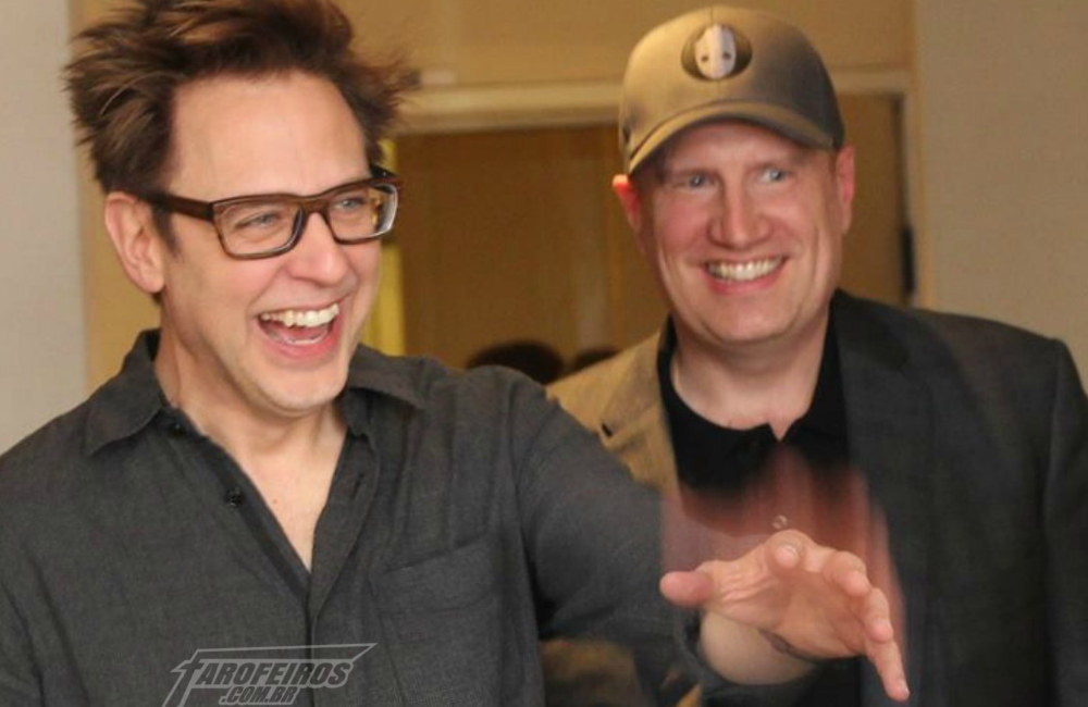 Redenção de James Gunn - James Gunn e Kevin Feige - FAROFEIROS COM BR