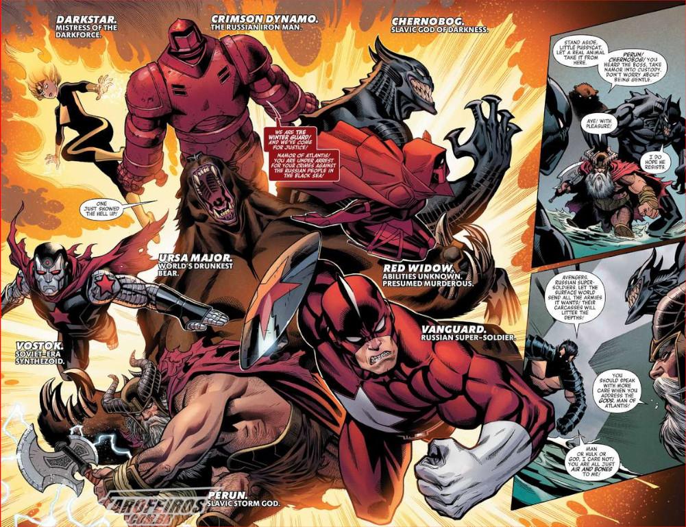 Esquadrão Supremo da América - Vingadores - Avengers #10 - Blog Farofeiros - Guarda Invernal