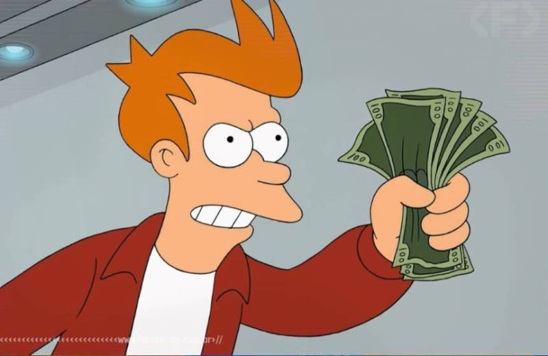 Qual é o jogo mais caro da Steam - Shut up and take my money - Fry - Futurama - Blog Farofeiros