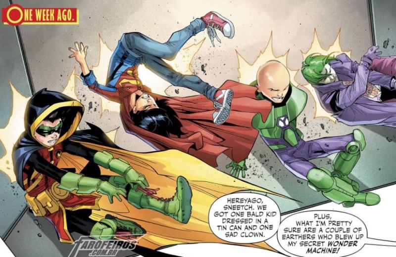 Outra Semana nos Quadrinhos #5 - Adventures of the Super Sons #7 - Robin - Superboy - Blog Farofeiros
