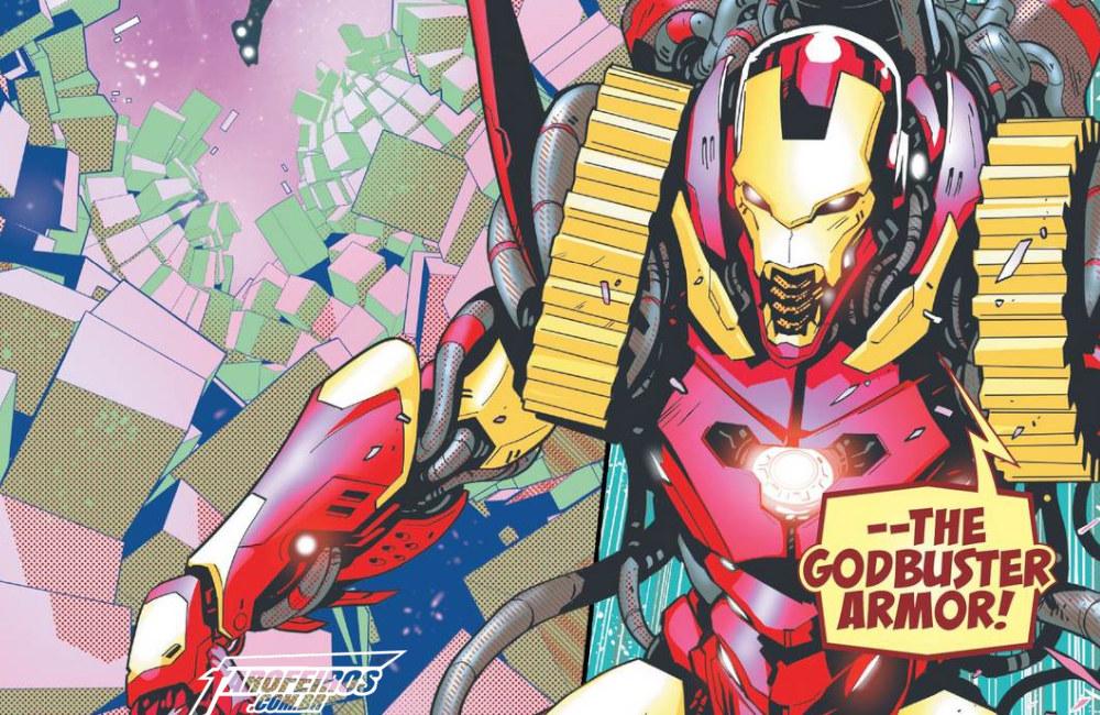 Outra Semana nos Quadrinhos #13 - Tony Stark - Iron Man #10 - Homem de Ferro - Godbuster Armor - Blog Farofeiros