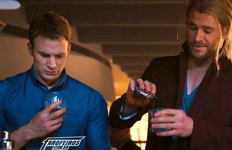 Vingadores bebendo - Capitão América - Thor - Blog Farofeiros