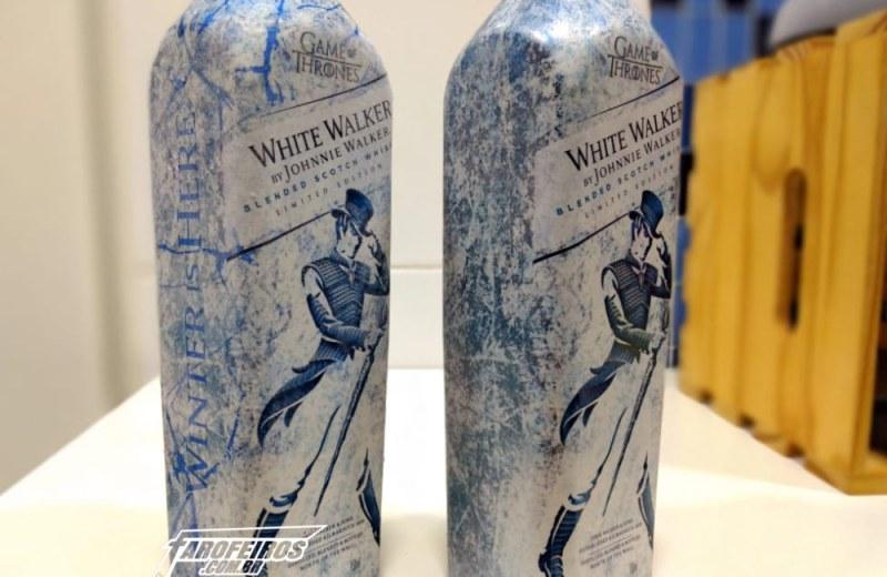 Whisky de Game of Thrones - White Walker - Johnnie Walker - Garrafa gelada - Blog Farofeiros