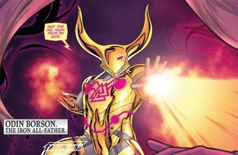 Outra Semana nos Quadrinhos #17 - War of the Realms #4 - Guerra dos Reinos - Odin Borson - Armadura feita por Tony Stark - Blog Farofeiros